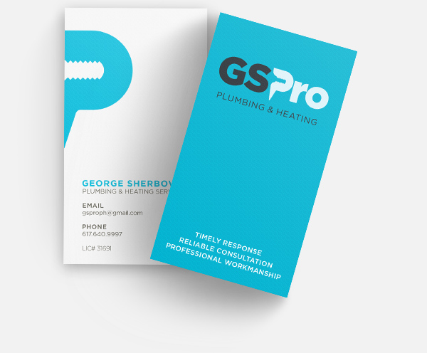 Gspro plumbing and heating services boston ma gspro plumbing and heating services business cards colourmoves